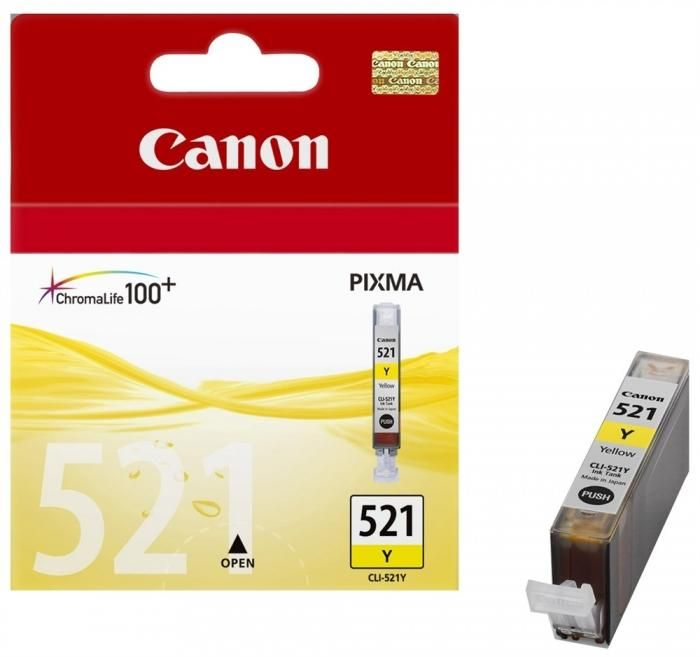 Image of Canon CLI-521Y Yellow/Gult Blek 9ml