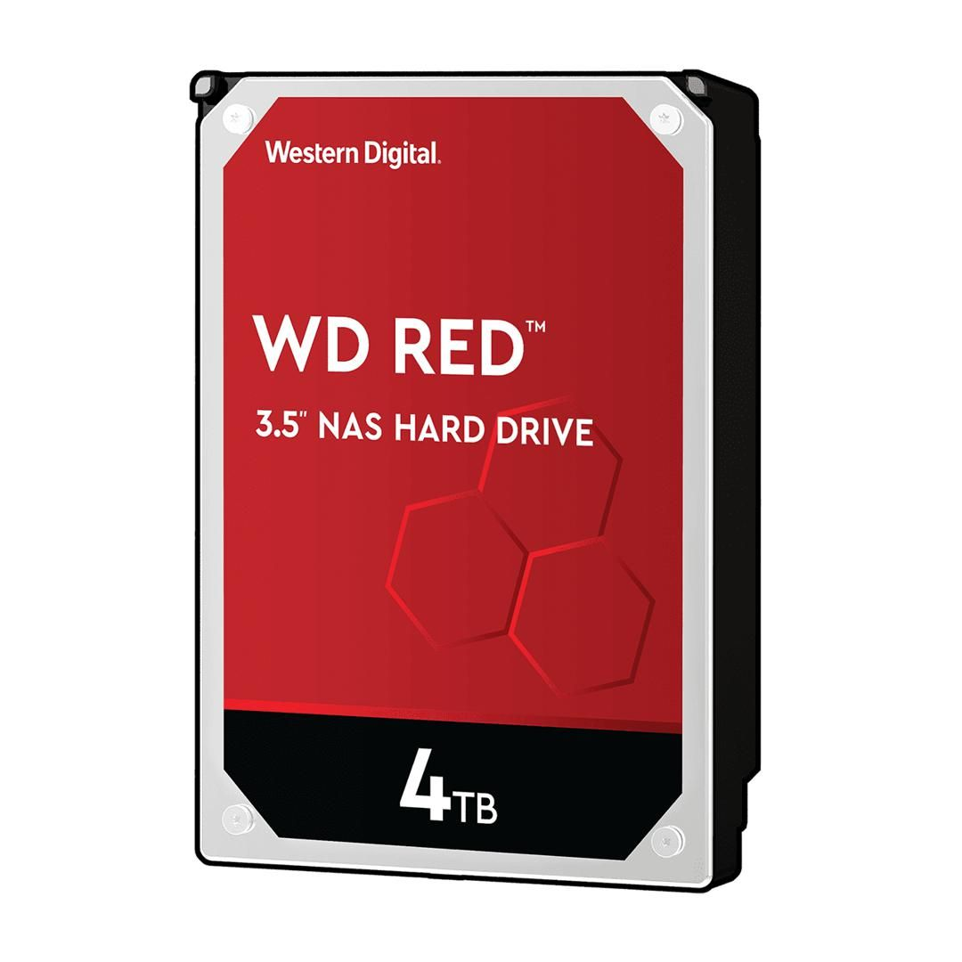 Image of Western Digital WD RED 4TB diskur WD40EFAX, SATA3 256MB